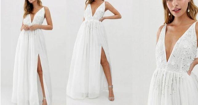 Suknia ślubna NOWA M L 40 Princessa ecru ivory styl boho rustykalny