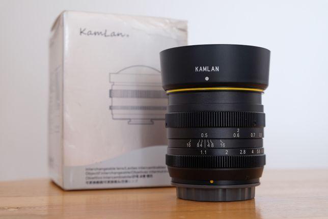 Obiektyw Kamlan 50mm f/1.1 (mocowanie Fujifilm X)
