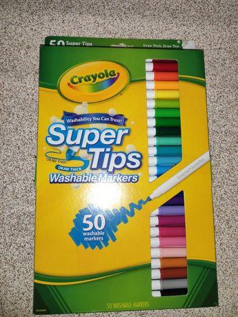 Фломастеры набор crayola легко вытирать 50 шт