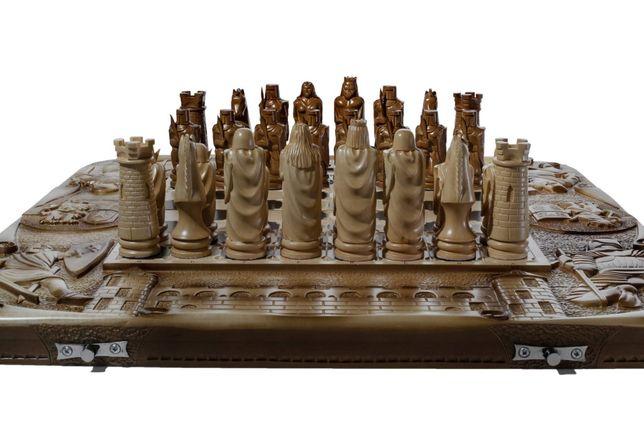 Шахматы-нарды ручной работы