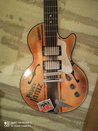 Paper Jamz Guitar black.Гитара детская,гітара дитяча.wowshop.