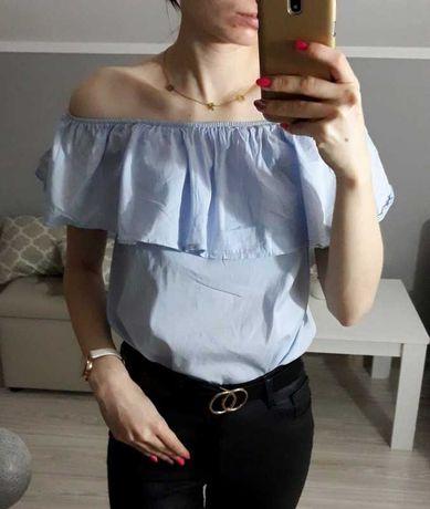 Błękitna bluzka hiszpanka S/M