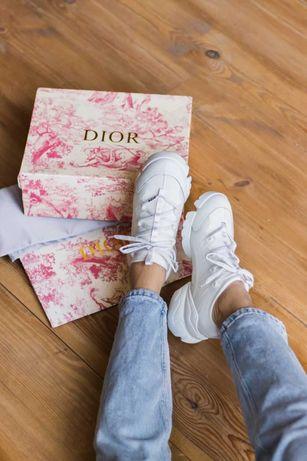 Женские Диор Кроссовки Dior D-Connect Sneaker White (Без Предоплаты)