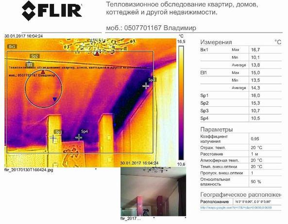 Тепловизор. Тепловизионное обследование квартиры, дома тепловизором .