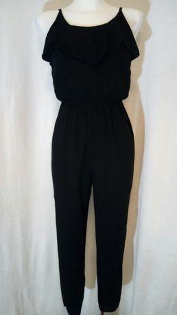 Kombinezon czarny dlugie spodnie 34 XS 36 S Ckh