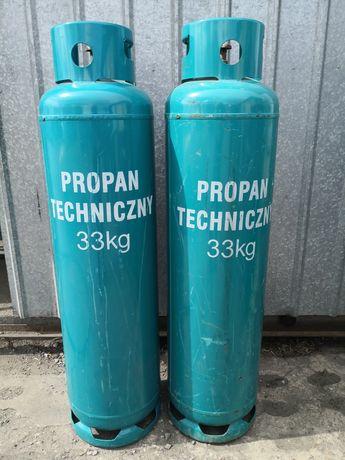 Wymiana butli gazowych propan 33 kg, butle gazowe propan butla gazowa