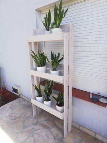Biały drewniany kwietnik eko,ogrodowy lub na balkon