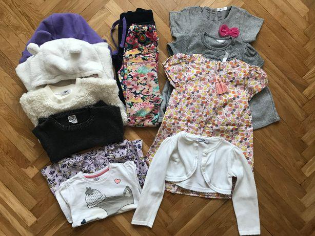 Zestaw ubrań dla dziewczynki rozmiar 92-98 13 elementów