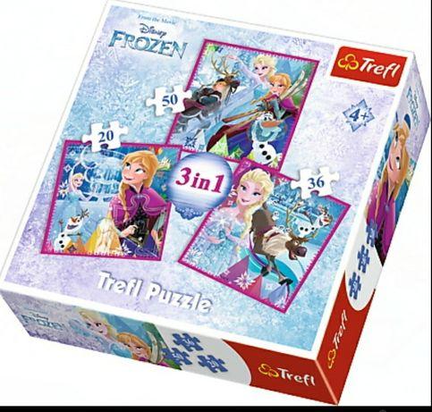 Nowe puzzle 3w1 Kraina lodu. Ekspresowa wysyłka.