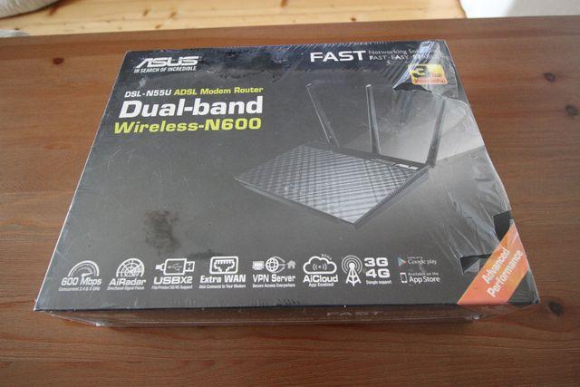 ASUS DSL-N55U N600 ADLS modem router PREZENT