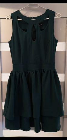 Sukienka - butelkowa zieleń