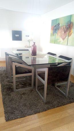Mesa + cadeiras de sala de jantar
