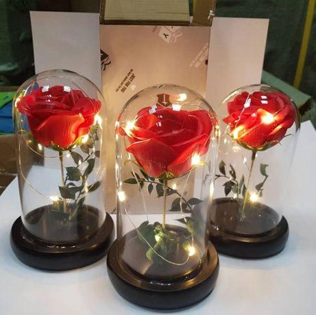 Роза в колбе с LED подсветкой , ночник, 17 СМ Лучший подарок