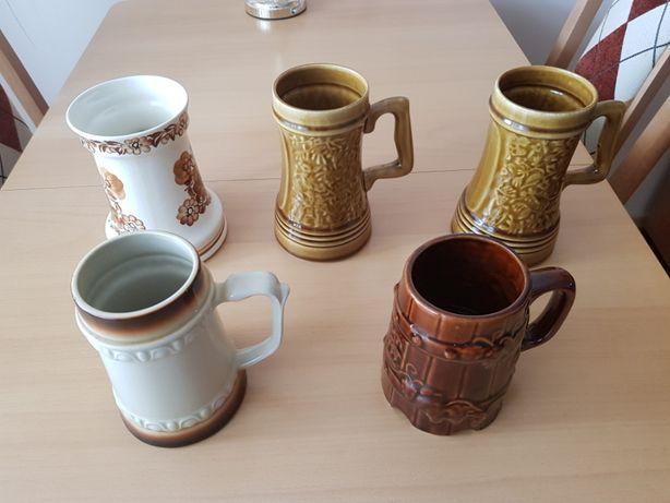 Kufle do piwa, dekoracyjne, ceramika