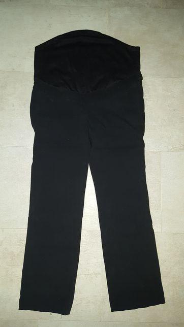 Czarne spodnie ciążowe rozm 38