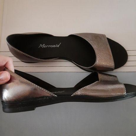 Открытые туфли кожа