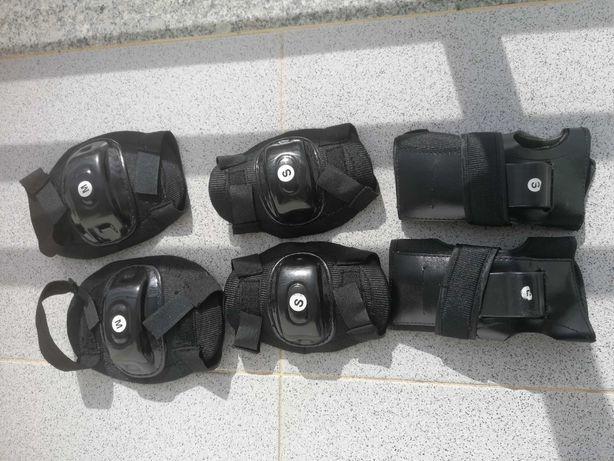 Proteções Skate mãos, joelhos, cotovelos