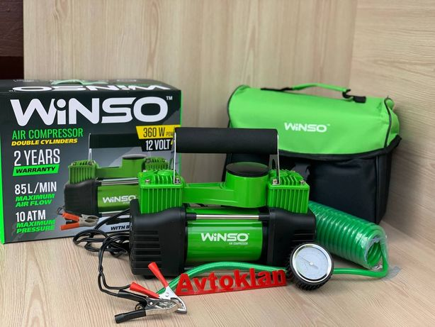 Компрессор автомобильный Winso 125000 компресор Uragan 90170 ураган.
