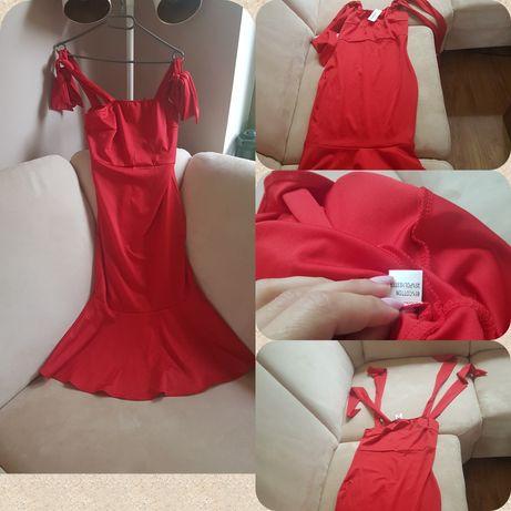 Piekna nowa efektowna sukienka M z butiku CBR Czerwona - sylwester