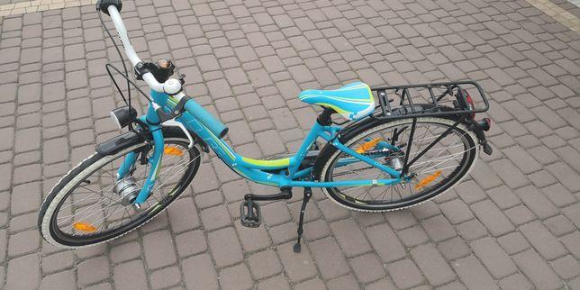 Rower Cube Street kids stan bdb Led 3 biegi kola 24 cale niebieski