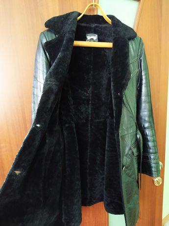 Дублёнка женская натуральная + короткое пальто