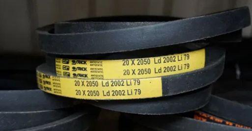 H20X2050 - Pas klinowy napędu wentylatora młocarni żółty Sanok BIZON
