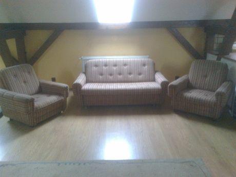 zestaw wypoczynkowy sofa z fotelami