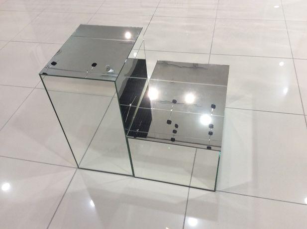 Boxy szklane o wymiarach 60x40x31 cm