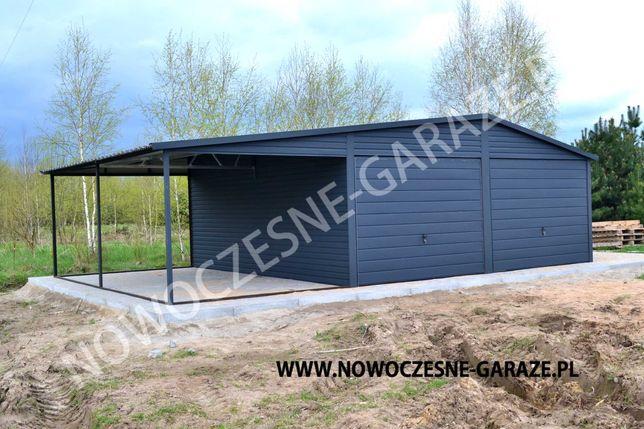 Garaż drewnopodobny 3m x 5m, 4m x 6m, 6m x 6m
