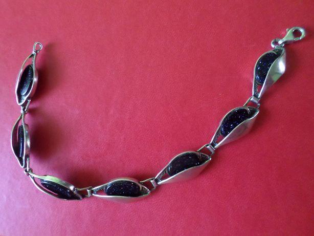Piękna, widoczna, elegancka bransoletka z Nocą Kairu - srebro
