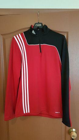 Красная мастерка кофта на молнии адидас Adidas мужская ветровка тёплая