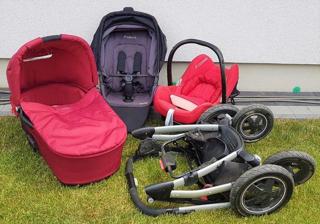 Maxi Cosi Mura 4plus-wózek dziecięcy 3w1: gondola, spacerówka, fotelik