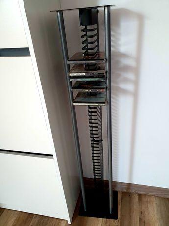 Metalowy cieżki stojak na płyty CD w stylu loft