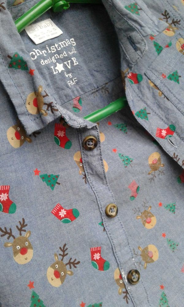 Сорочка - рубашка з новорічним принтом Лубны - изображение 1