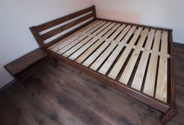 кровать деревянная натуральное дерево 140х200 ліжко деревянне міцне.