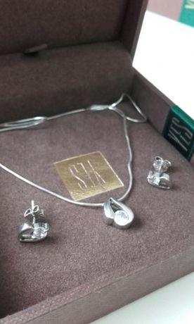 Biżuteria lancuszek + kolczyki YES
