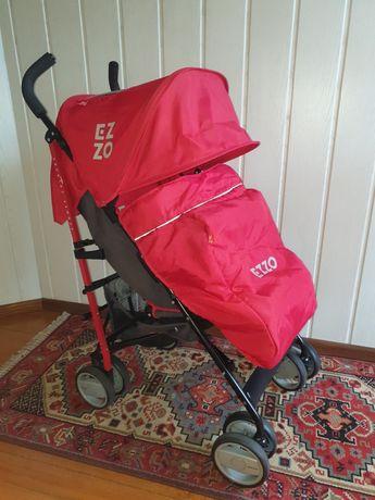 Spacerówka parasolka wózek turystyczny Euro Cart Ezzo Scarlet