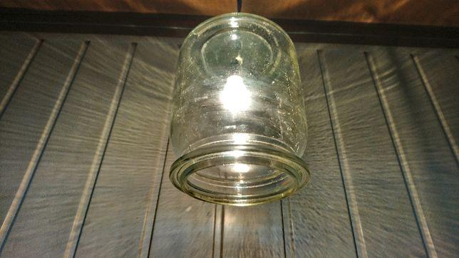Lampa weka słój industrialna