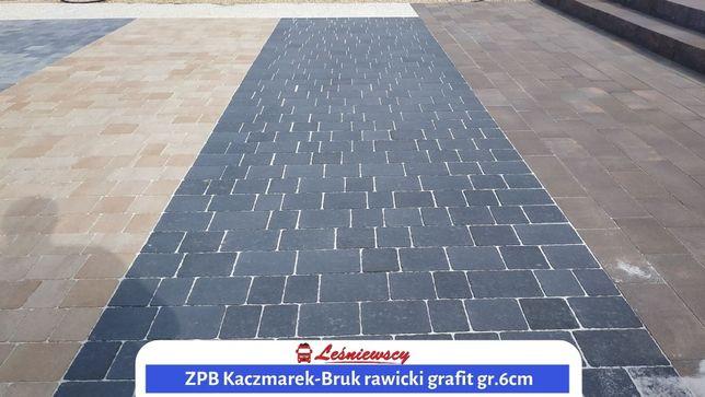 Kostka brukowa CZARNA na podjazd/taras ZPB Kaczmarek-Bruk Rawicki 6cm