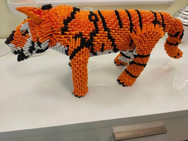 Ręcznie robione origami modułowe - Tygrys