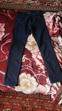 Тёплые темно-синие штаны