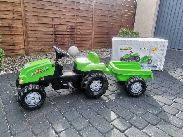 Traktor Rolly Kid z przyczepą na pedała