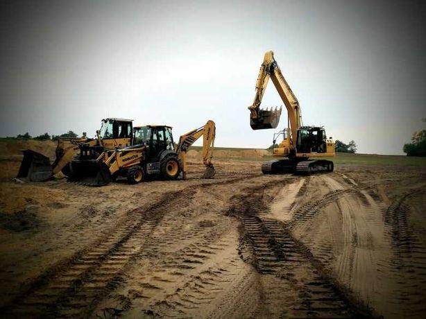 Usługi koparką i kop/ład,niwelacja terenu,stawy,wyburzenia, transport