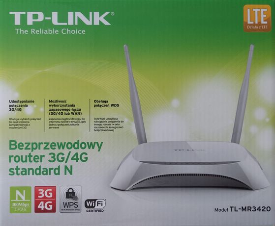 Nowy Router TP-LINK TL-MR3420