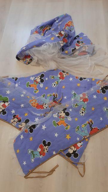 Бортики и балдахин,защита в детскую кроватку