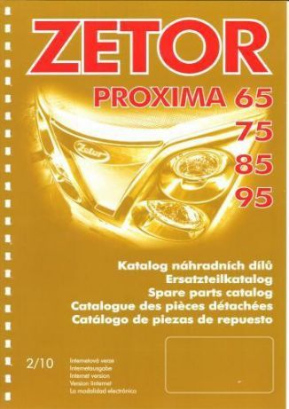 Katalog części ZETOR PROXIMA 70,80,90,100