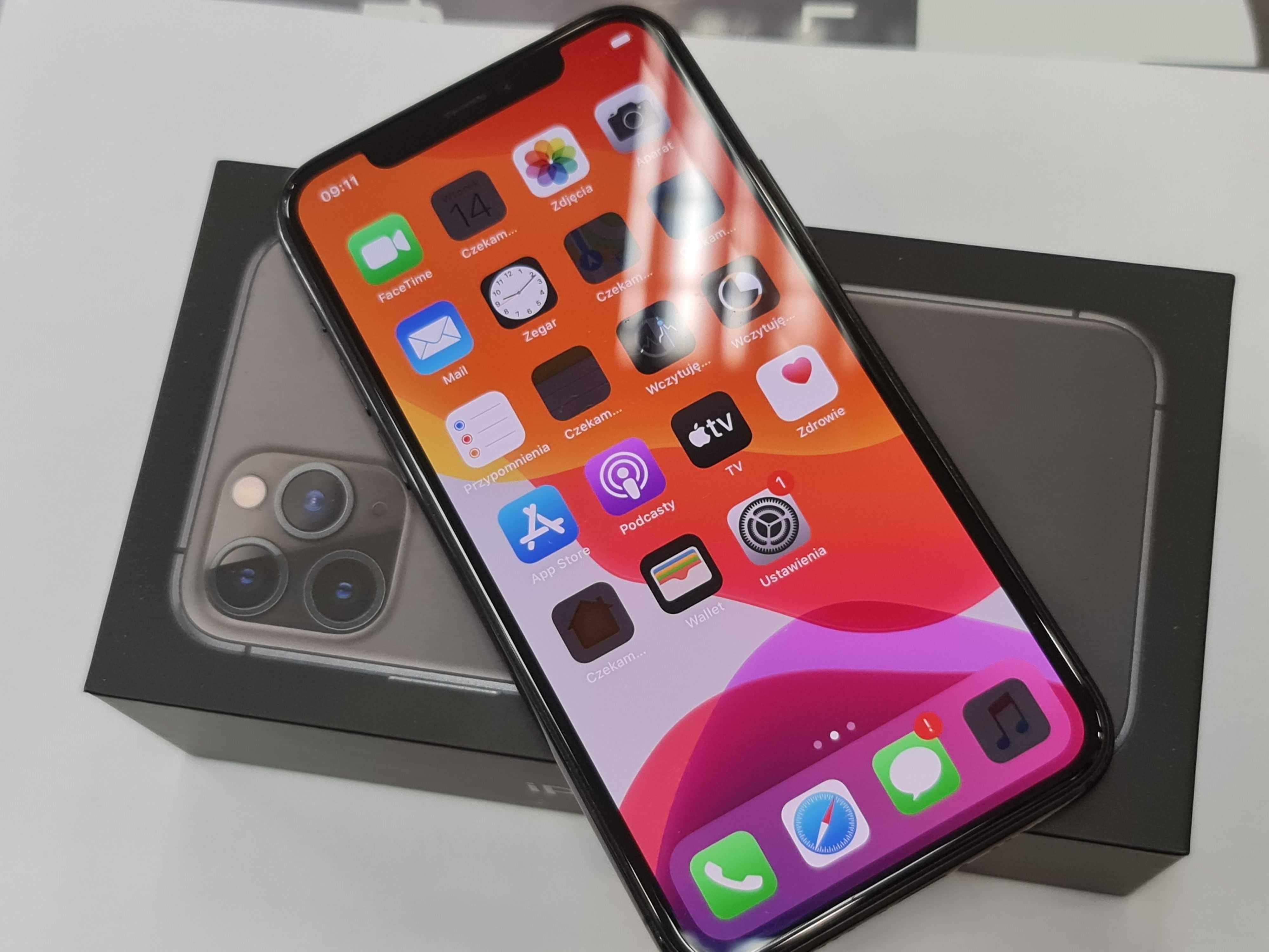 Iphone 11 PRO 64GB/ Space Gray/ 100% sprawny/ bateria 85%/ DB