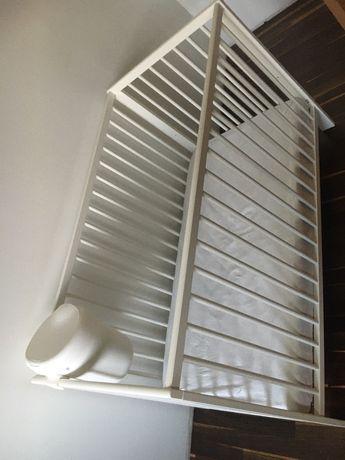 Łóżeczko + materac sprężynowo - kieszeniowy Ikea