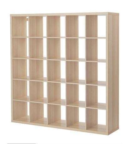 Ikea Kallax Regał, dąb bejcowany na biało 182x182 cm