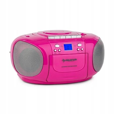Auna BoomGirl boombox radioodtwarzacz CD/MP3 Różowy